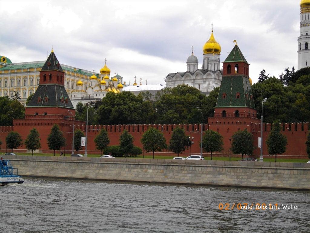 Kreml otoczony murem Moskwa