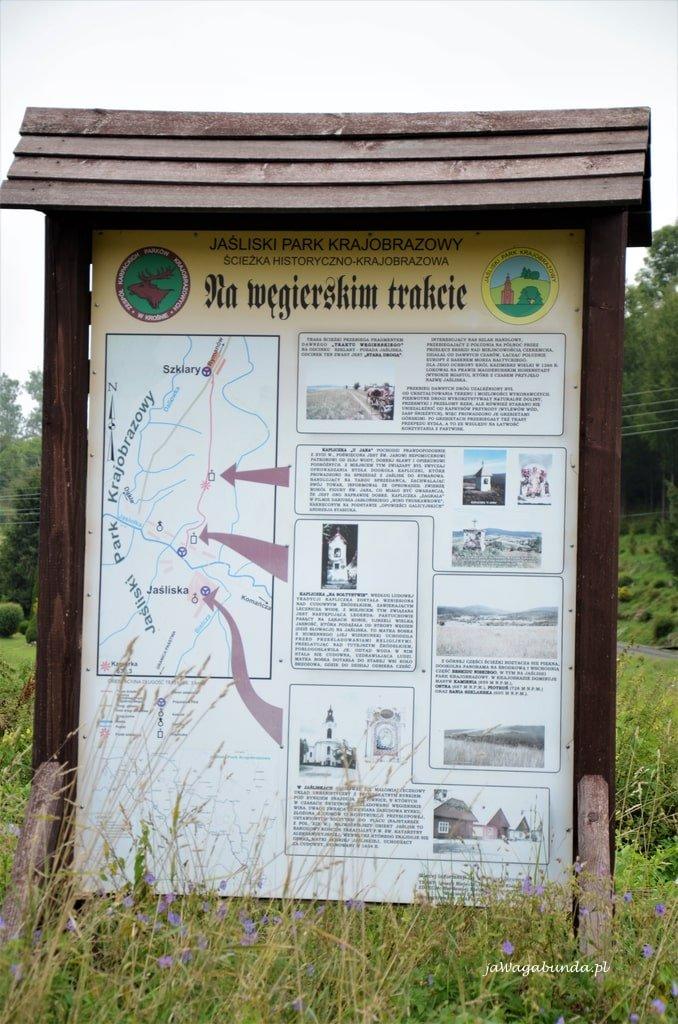 tablica informacyjna Na węgierskim szlaku