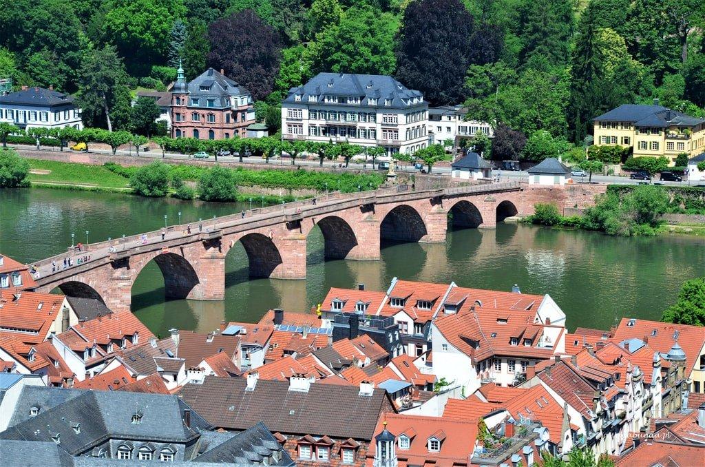 Widok na miasto z zamku Heidelberg