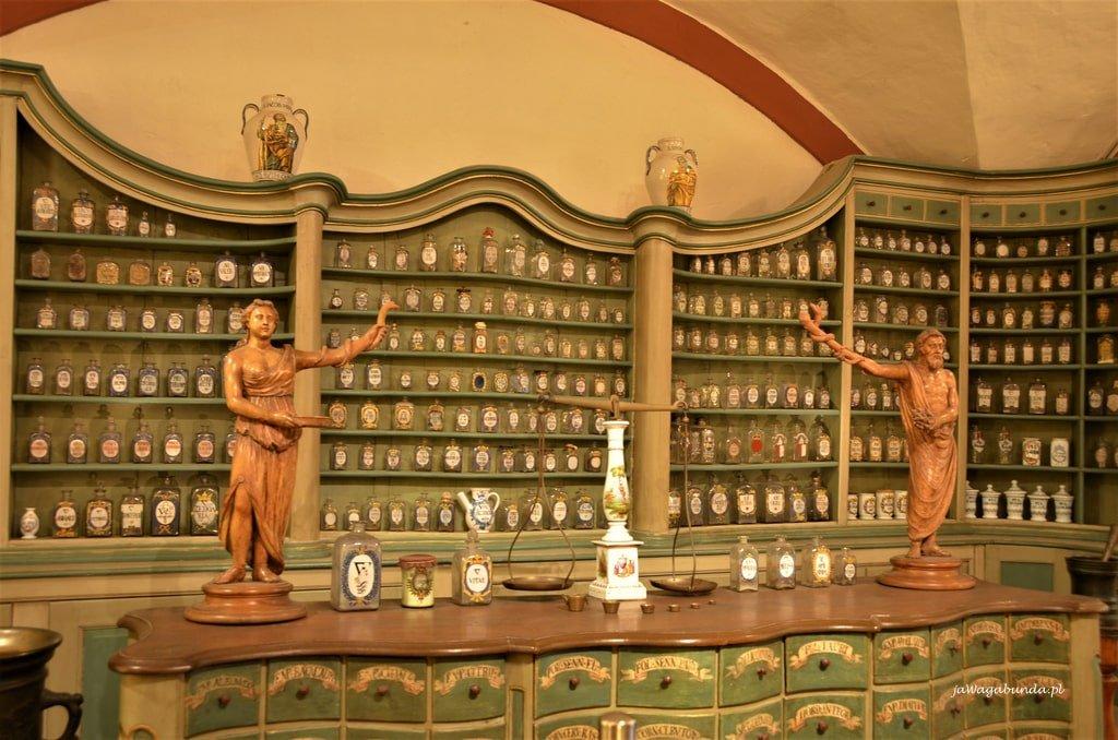 starodawne wyposażenie apteki