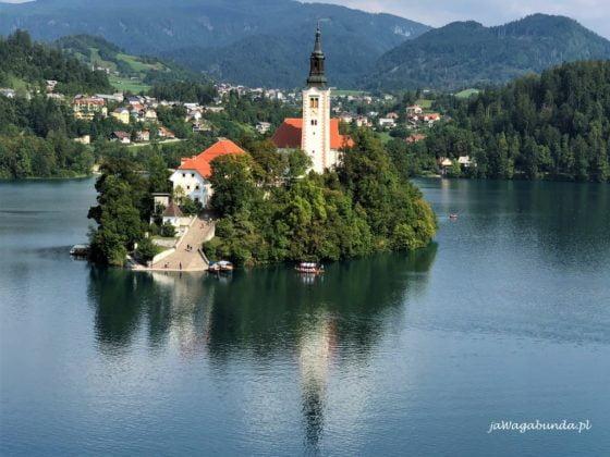 Bled Kościół na jeziorze