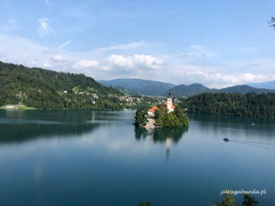 Bled jeziora i kościół Słowenia