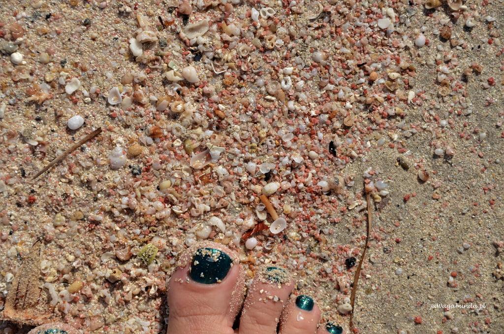 różowy piasek na Balos