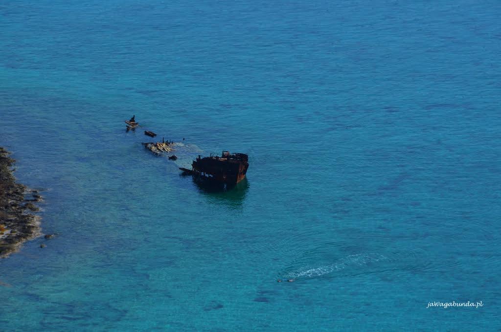 wrak statku na wyspie Gramvousa