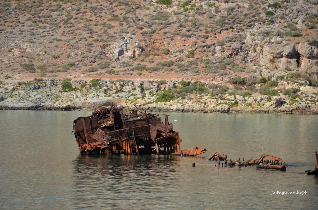 wrak statku na Gramvousa