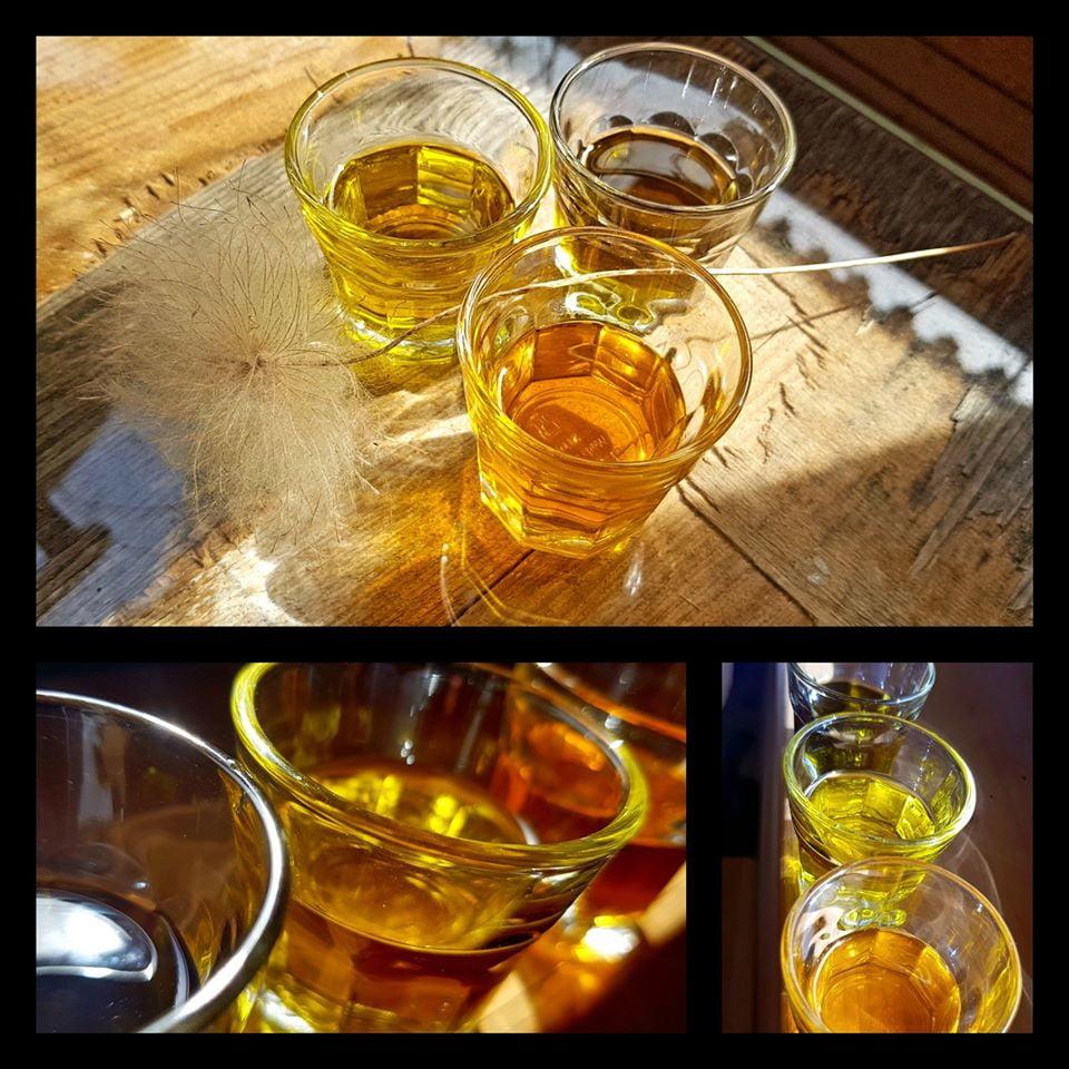 oleje do masażu w różnych pojemnikach