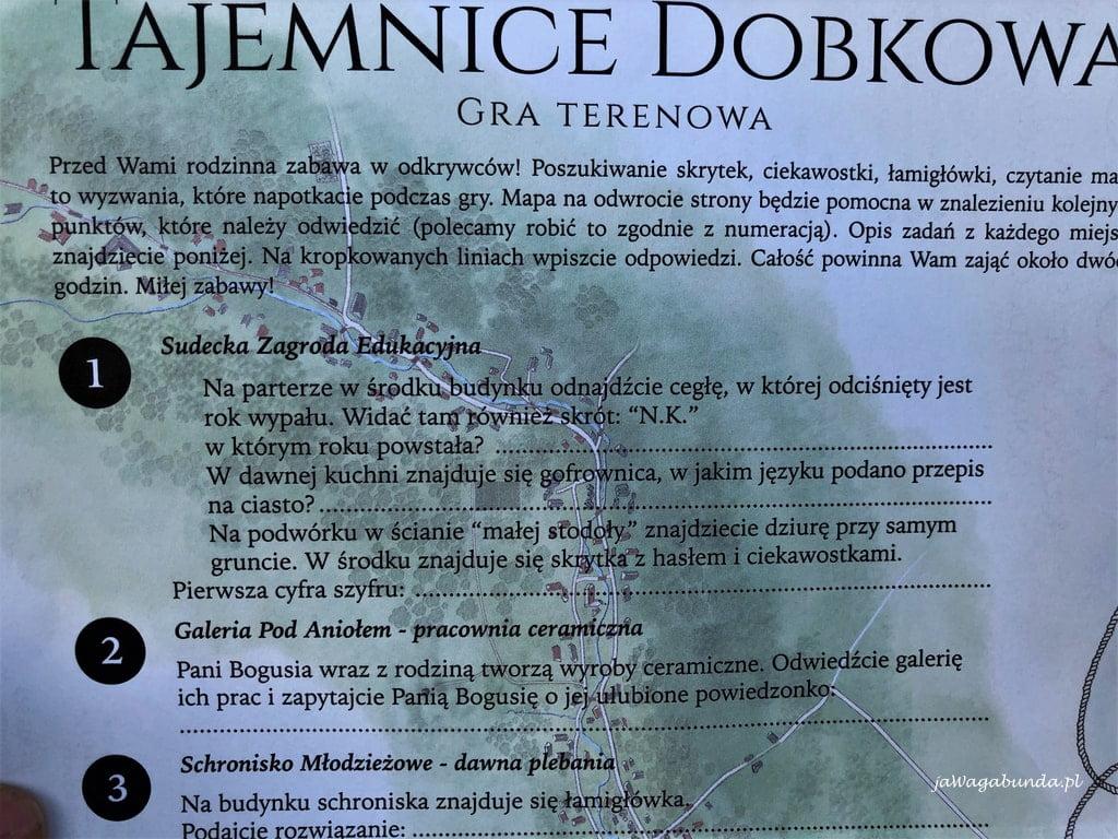 informacje o geoparku i innych atrakcjach Dobkowa na Dolnym śląsku