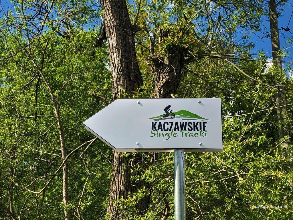 tablica informacyjna single track w górach Kaczawskich