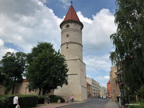 wieża z murami obronnymi w Lwówku Śląskim