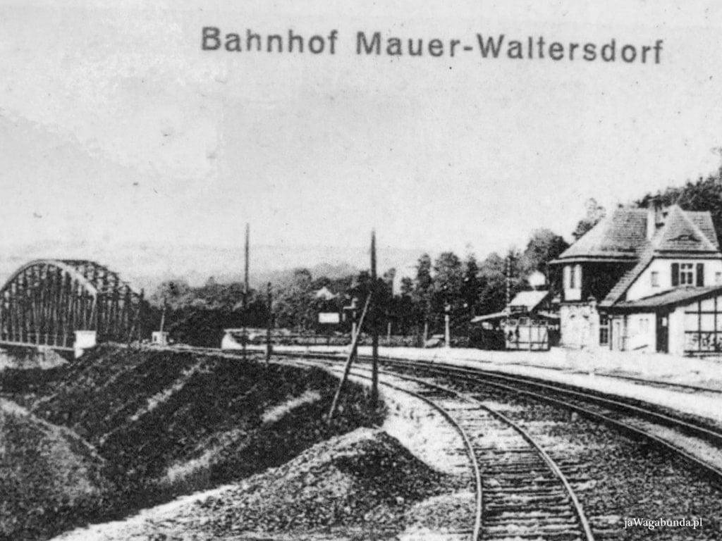 stara widokówka z niemieckimi napisami