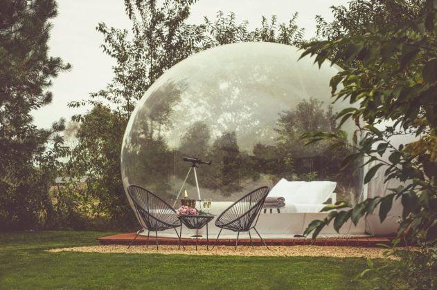 przeźroczysty namiot na nocleg