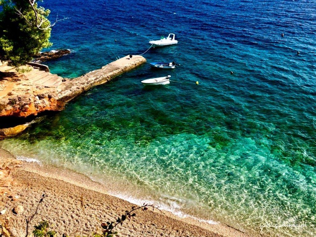 widok na turkusowe morze